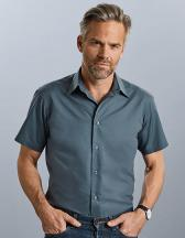Men`s Short Sleeve Tailored Polycotton Poplin Shirt