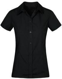 Women`s Poplin Shirt Short Sleeve